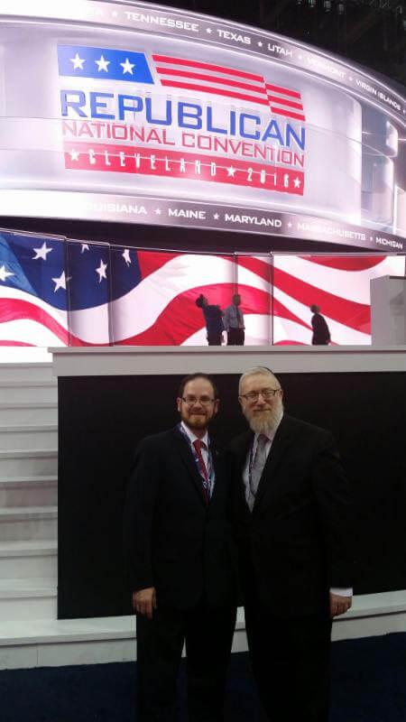 (L - R): Rabbi A. D. Motzen and Rabbi Labish Becker, executive director of Agudath Israel of America
