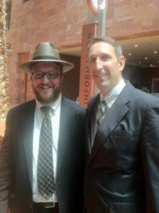 Rabbi Mendel Levine (Yeshiva Day School of Las Vegas) with ESA sponsor Nevada State Senator Scott Hammond