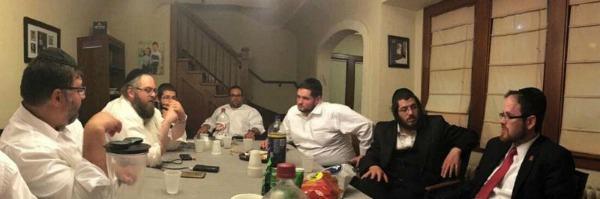 Agudath Israel's Rabbi A. D. Motzen meeting with community activists in Milwaukee