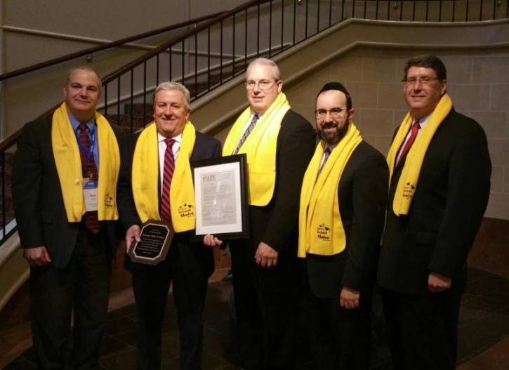 Pennsylvania CAPE (Council for American Private Education) leaders presenting State Senator Mike Folmer with the 2017 School Choice Champion Award