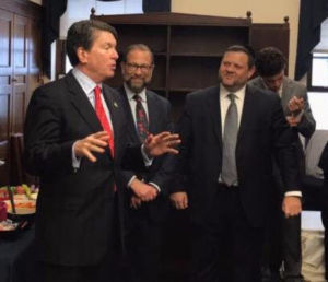 Newly elected Congressman John Fasso (R-NY19), Leon Goldenberg, Chaskel Bennett