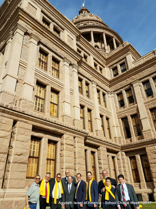 Group from Dallas in front of Texas Capitol