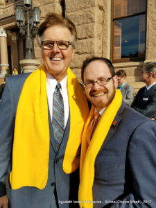 Rabbi A.D. Motzen with Texas Lt. Governor Dan Patrick in Austin