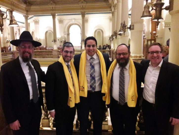 Agudath Israel of Colorado board members and community leaders meeting with Colorado state Rep Dan Pabon