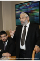 Reb Shia Markowitz leading a session at the recent Agudah Convention