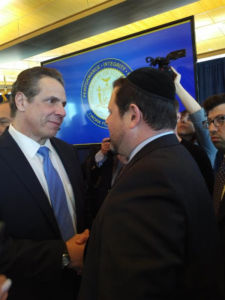 Chaskel Bennett with Governor Andrew Cuomo