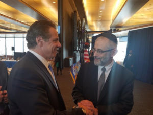 Rabbi Chaim Dovid Zwiebel with Governor Andrew Cuomo