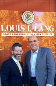 Rabbi Shlomo Soroka and Illinois House Deputy Majority Leader Lou Lang