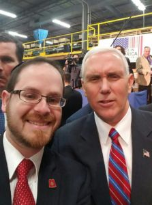 Rabbi A.D. Motzen and Vice President Mike Pence