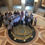 Torah Academy of Minneapolis students on a recent visit to the state Capitol.