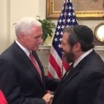 Rabbi Abba Cohen thanking Vice President Mike Pence at the White House
